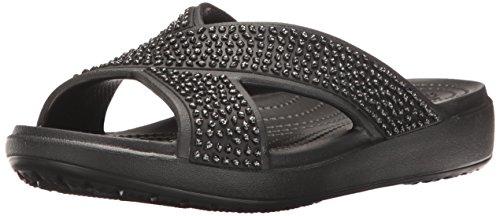 Slide Sandal Crocs Crocssloane Black Women's Embellished black Xstrap PqXIxzw68