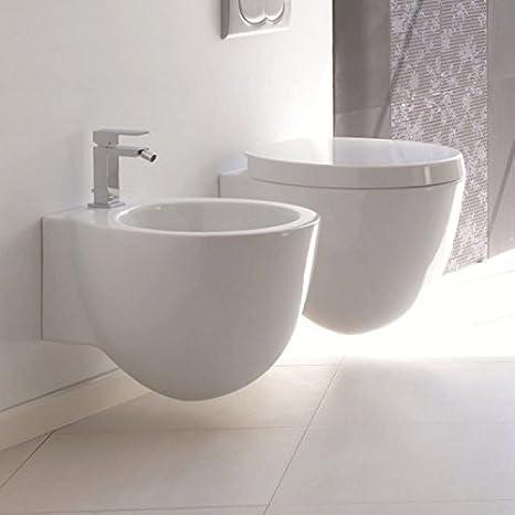 Area Ceramica Civita Castellana.Serie Sospesa Wc Bidet Coprivaso Ceramica Civita Cromo Modello