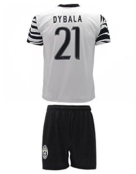 Conjunto Equipacion Camiseta Jersey Cebra Futbol Juventus Paulo Dybala 21 Replica Autorizado (10 años): Amazon.es: Deportes y aire libre