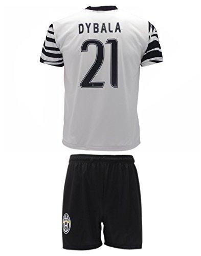 098c2474b65 Conjunto Equipacion Camiseta Jersey Cebra Futbol Juventus Paulo Dybala 21  Replica Autorizado (10 años)
