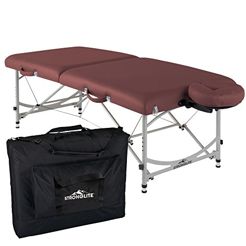 STRONGLITE Portable Massage Table Package VERSALITE - Professional, Lightweight Aluminum Incl. Deluxe Adjustable Headrest & Face Pillow (29lbs) (30