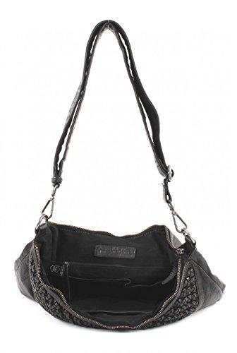 FREDsBRUDER Arrow Luxury Bolso bandolera piel 38 cm Negro