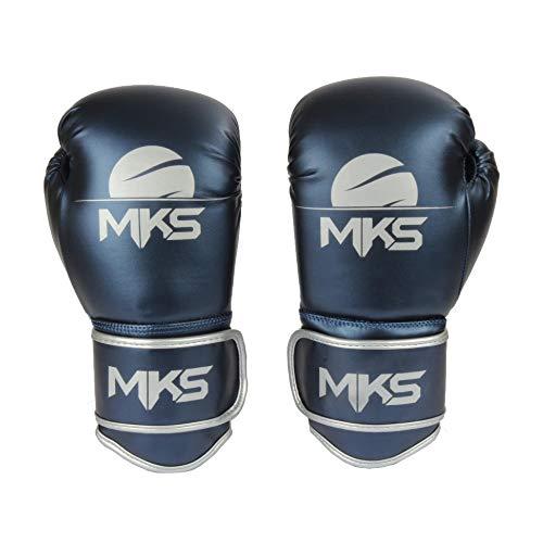 Luva de Boxe Energy, Tamanho 18Oz, MKS, Azul Metálico