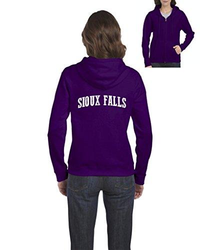 NIB Sioux Falls SD Flag Map Jackrabbits Home Of South Dakota State University Womens Sweaters Zip - Shopping Sd Falls Sioux