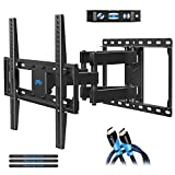 Mounting Dream Full Motion TV Mount Bracket for Most 26-55 Inch Flat Screen TV, Wall Mount with Dual Swivel Articulating Arms, Max VESA 400x400mm, 99 LBS Loading MD2380