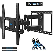 Mounting Dream TV Wall Mount TV Bracket for Most 32-55 Inch Flat Screen TV/ Mount Bracket, Full Motion TV Wall Mount with Swivel Articulating Dual Arms, Max VESA 400x400mm, 99 LBS Loading MD2380