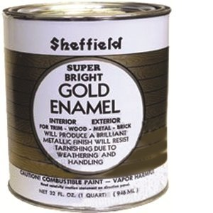 SHEFFIELD 5740 QT GOLD EXTERIOR/INTERIOR METALLIC ENAMEL