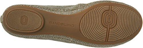 Bandolino Women's Edition Fabric Ballet Flat Gold u4jaRgvO2
