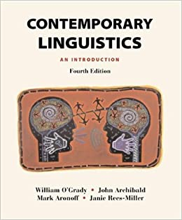Contemporary linguistics an introduction 4th edition fourth edition contemporary linguistics an introduction 4th edition fourth edition aronoff archibald rees miller ogrady amazon books fandeluxe Choice Image