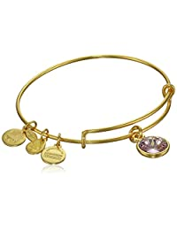 Alex and Ani Bangle Bar Imitation Birthstone Bangle Bracelet, 7.75""