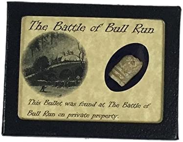 Shot Bullet Relic from The Battle of Bull Run Manassas with Display Case