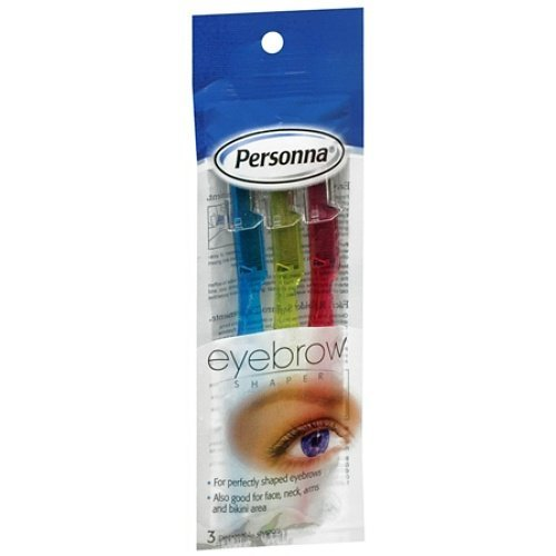 Easy! Fast! Personna Disposable Eyebrow Shapers 3 Each (Pack of 2) by Personna by Personna