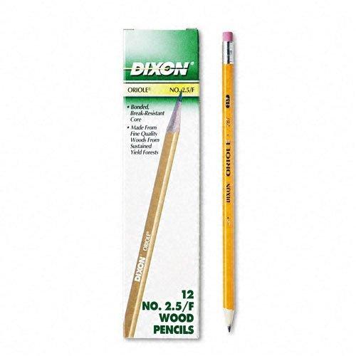 Dixon Oriole Woodcase Pencil, F #2.5, Yellow Barrel, ()