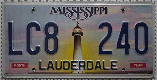 Mississippi Auto Kennzeichen Mit Motiv Leuchttum Usa Metallschild Mit Grafik Us License Plate Lighthouse Graphic Kfz Blechschild Auto