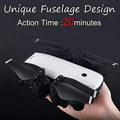 GPS FPV RC Drone, SMRC with 5MP 1080P 120°Wide-Angle 5G and GPS Aititude Hold RC Helicopter Foldable Selfie Drone S20 HD Quadcopter by ZYooh by ZYooh