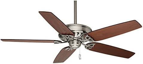 Casablanca Indoor Ceiling Fan, with pull chain control – Concentra 54 inch, Brushed Nickel, 54021