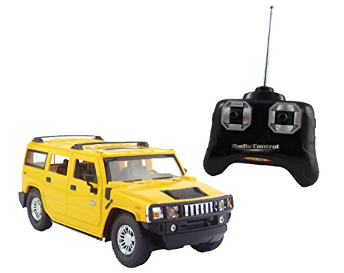 Liberty Imports Hummer H2 SUV Full Function R/C Radio Remote Control Car 1:24 Scale (H2 SUV Yellow)