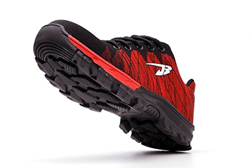 Hiker Cap Protection Lightweight Y Toe Shoes Safety Work Steel Trainers Womens Black Mens Red Midsole gqYWZzw