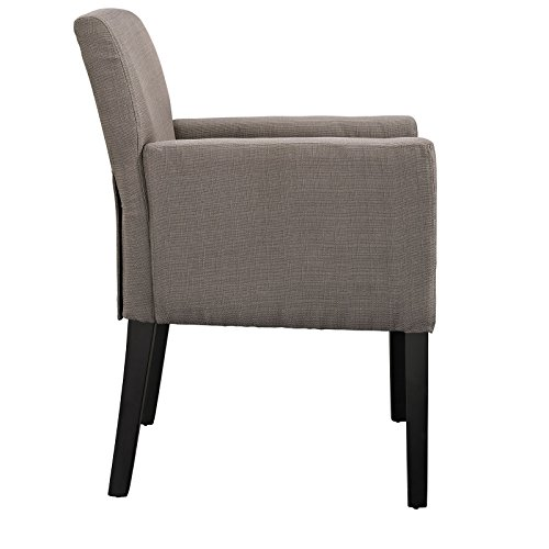 Modway Chloe Wood Armchair, Grey