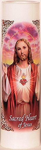 Sacred Heart of Jesus | Sagrado Corazon De Jesus | LED Flame