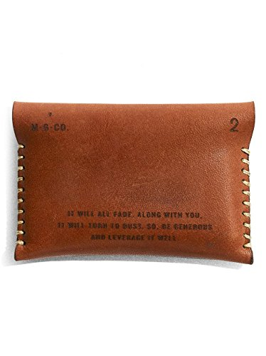 holds thread waxed U S Tan in with leather cotton It the Wallet made Keep wallet engraved hand stitched cash cards laser minimalist RB6Ez
