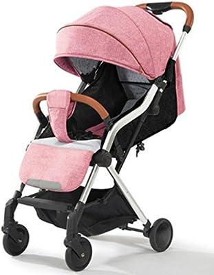 dc6f3744b Cochecito de bebé puede sentarse Horizontal plegable plegable Carro de  choque de 4 ruedas Recién nacido de viaje plegable con un clic. Cargando  imágenes.