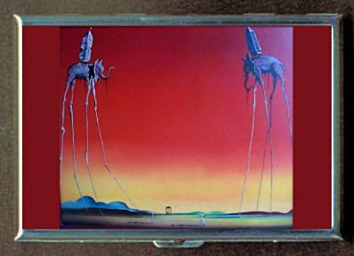 Salvador Dali The Elephants Stainless Steel ID or Cigarettes Case (King Size or - Dali Cigarette Salvador Case