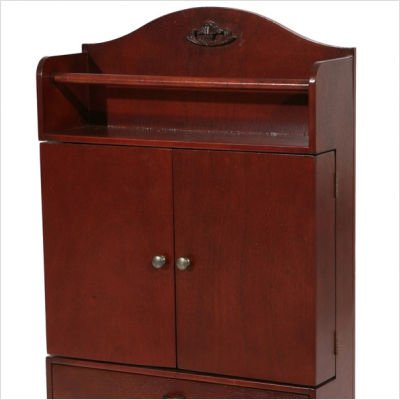 SEI Cherry Wall-Mount Jewelry Armoire