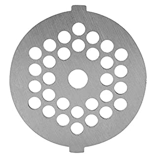 Meat Grinder Knife Alloy Disc Meat Mincer Plate Knife with 5/7mm Holes Professional Replacement Part for Grinders Mincers(​Diameter of hole 5mm)