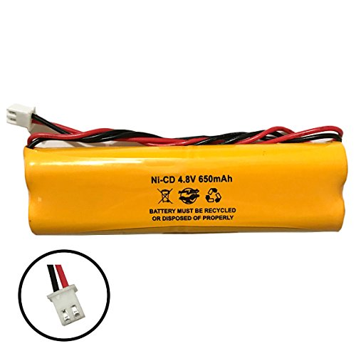 All Fit E1021R LITHONIA D-AA650Bx4 Unitech Dual-Lite 0120859 Ni-CD AA 650mAh 4.8V EJW-NI-CAD 800mah BYD D-AA650B-4 Exit Sign Emergency Light NiCad Battery Pack (Lite Emergency Light)