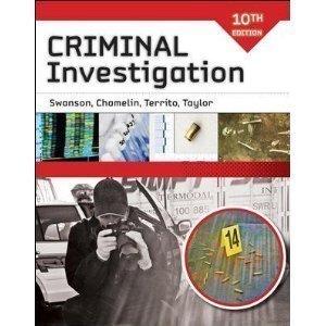 Criminal investigation charles r. Swanson, robert w. Taylor.