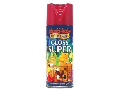 (Plasti-kote 1120 400ml Super Gloss - Bright Red by Plasti-Kote)