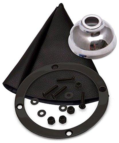American Shifter 415620 Shifter 12 Trim Kit Push Btn Cap BLK Boot Ringed Knob for D9BAC TH350