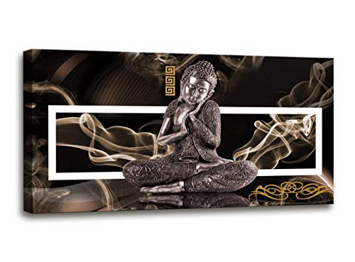 (youkuart Modern Buddha Painting Printed On Canvas Religion Wall Art Canvas Painting Home Decoration Wall Murals Ready to Hang)