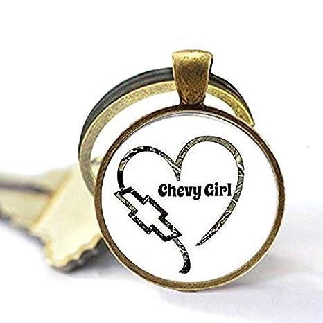 Llavero hecho a mano inspirado en Chevy Girl, regalo de ...