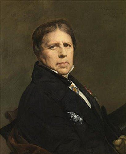 The Perfect Effectキャンバスの油絵` Jean Auguste Dominique Ingres–Self Portrait at the 78の時代、1858」、サイズ30x 37インチ/ 76x 93cm、この素晴らしいアートリビングルーム装飾キャンバスプリントは、フィットのギャラリーアートとホーム装飾、ギフトの商品画像