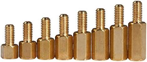 50Pcs M2L+3Mm M2.5//M3L+6Mm Hex Head Brass Spacing Screws Threaded Pillar PCB Computer PC Motherboard Standoff Spacer HW040 14mm M2