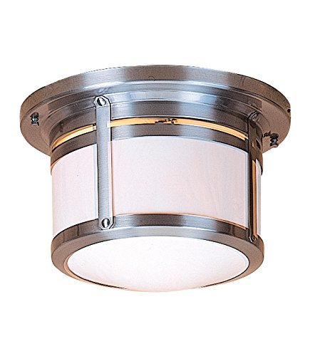 Outdoor Berkeley Lamp (Arroyo Craftsman BCM-10CR-AB Berkeley Flush Ceiling Mount Light Fixture, 10