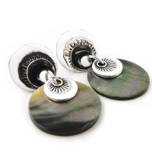 NOA [H4626] - Boucles Créateur 'Bora Bora' noir blanc