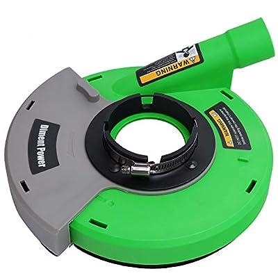 Diment Power Dust Shroud,Surface Grinding Dust Shroud for Angle Grinders 7-inch,green