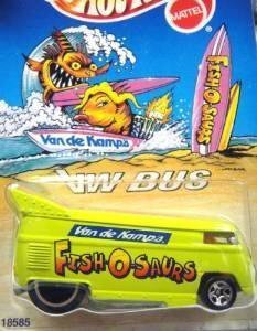 Hot Wheels - 50k Special Edition - Van de Kamp's - Fish O Saurs - Volkswagen (VW) Bus - 1:64 Scale Collector Vehicle - Light Green Body Color by Hot Wheels