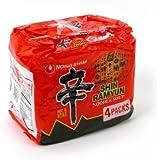 [ 4 Packs ] NongShim Shin Ramyun Noodle Soup, Gourmet Spicy, 4.2 Ounce