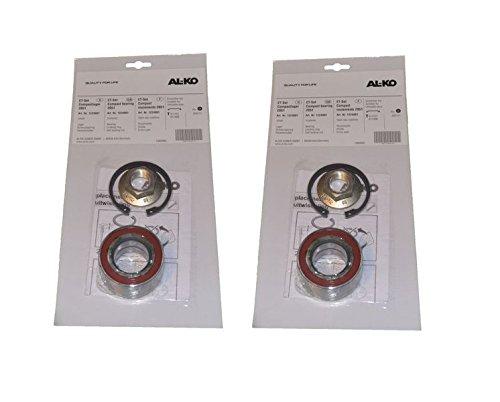 2 x ALKO Radlager 1224801 Lager 64/34x37 mm + Zubehö r - Kompaktlager Ecolager FKAnhängerteile