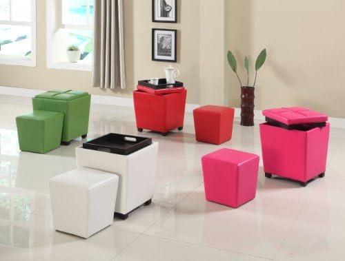 Roundhill Furniture 2-in-1 Storage Ottoman