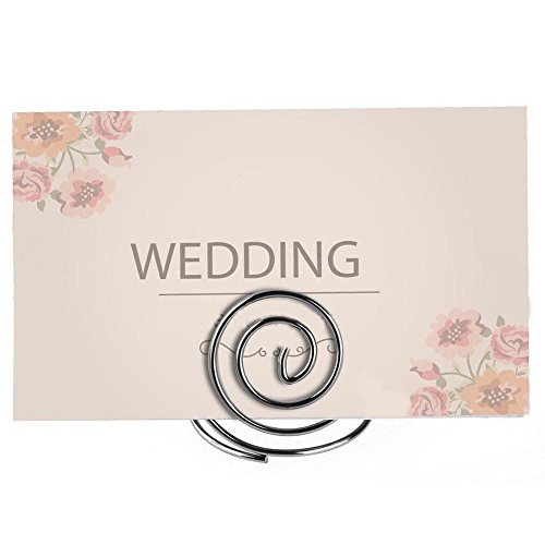 Table Top Wire Place Card Holder Stand Memo Note Recipe Centerpieces Number Dinner Home Party Wedding Birthday Favor Restauran Card Holder & Note Holder Desk Accessories & Organizer