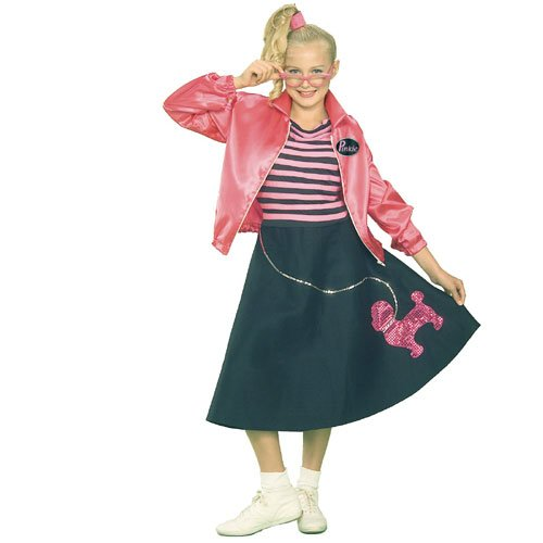Teen Fifties Pink Poodle Skirt Costume by Forum Novelties - Size 2 to 6