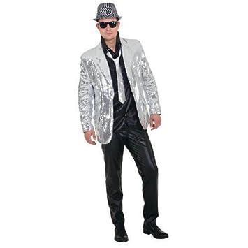 Disfraz de Carnaval Hombre Chaqueta de Show con lentejuelas ...