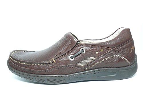 Zapato casual hombre FLUCHOS tipo nauticoen piel color marron brandy - 7553 - 49 (44, marron)