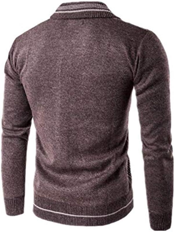 JPDD Męskie Langarm Sweatshirt Poloshirts Winter Strick Pullover Strickjacke Cardigan Strickpullover Kapuzenpullover Pullover Männer Mode Męskie Slim Cardigan Mantel Jacke Sweater Outwear Coat: Odzież