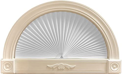 Original Arch Light Filtering Pleated Paper Shade White, 72 x 36